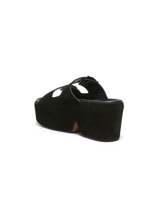 - CLERGERIE - Esme' Double Strap Suede Platform Sandals