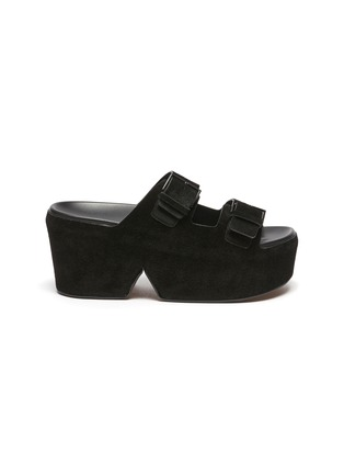 Main View - Click To Enlarge - CLERGERIE - Esme' Double Strap Suede Platform Sandals