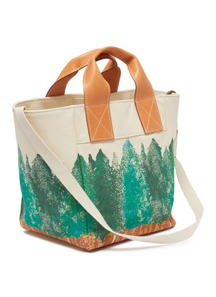 Detail View - Click To Enlarge - ACNE STUDIOS - Forest Graphic Print Cotton Canvas Tote