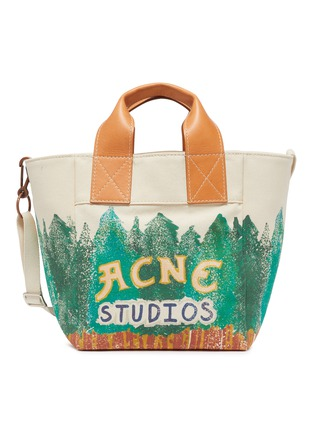 Main View - Click To Enlarge - ACNE STUDIOS - Forest Graphic Print Cotton Canvas Tote