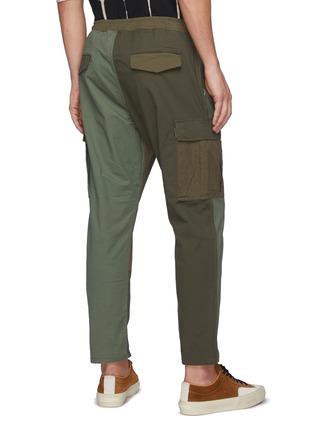 Back View - Click To Enlarge - FDMTL - Panelled Cotton Blend Drawstring Cargo Pants