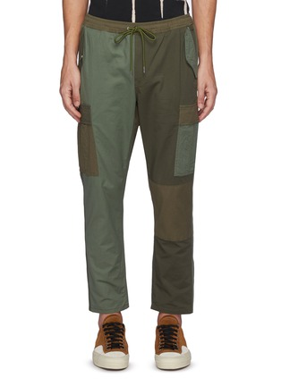 Main View - Click To Enlarge - FDMTL - Panelled Cotton Blend Drawstring Cargo Pants