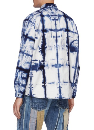 Back View - Click To Enlarge - FDMTL - Grided Tie Dye Cotton Oversized Shirt