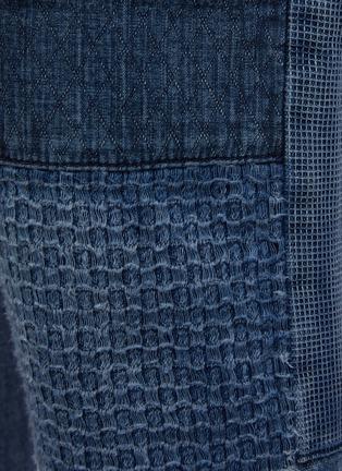 - FDMTL - Tonal Boro Patchwork Washed Straight Leg Jeans