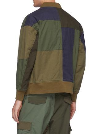 Back View - Click To Enlarge - FDMTL - Multi Coloured Patchwork Cotton Bomber Jacket