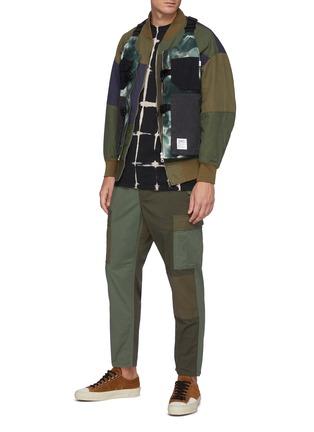Figure View - Click To Enlarge - FDMTL - Multi Coloured Patchwork Cotton Bomber Jacket