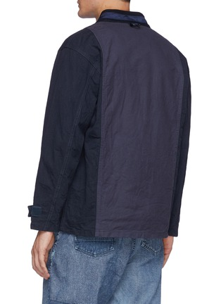 Back View - Click To Enlarge - FDMTL - Flap Pocket Zip Up Cotton Miliary Haori Jacket
