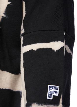 - FDMTL - Grided Tie Dye Quarter Sleeved Cotton Oversized Crewneck T-Shirt