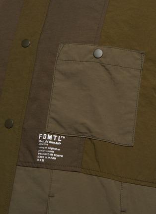 - FDMTL - Tonal Patchwork Snap Buttoned Nylon Shirt