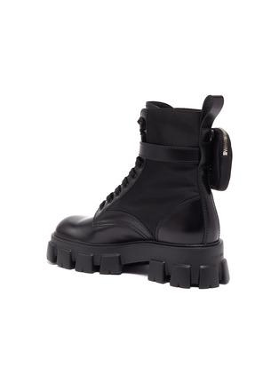 - PRADA - 'Monolith' pocket platform leather boots