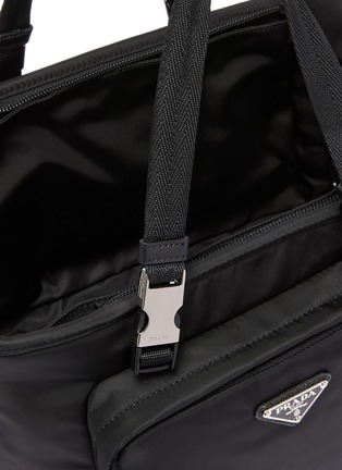 Detail View - Click To Enlarge - PRADA - Re-Nylon Saffiano leather pet tote bag