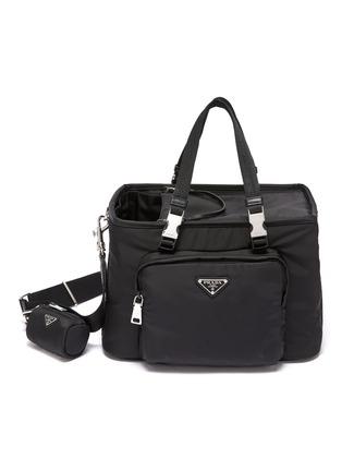 Main View - Click To Enlarge - PRADA - Re-Nylon Saffiano leather pet tote bag