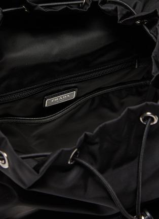 Detail View - Click To Enlarge - PRADA - Triangular Logo Plaque Re-nylon Trek Backpack