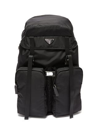 Main View - Click To Enlarge - PRADA - Triangular Logo Plaque Re-nylon Trek Backpack