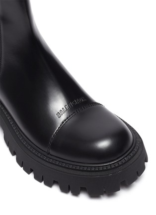 Detail View - Click To Enlarge - BALENCIAGA - Tractor' Chunky Outsole Leather Chelsea Boots