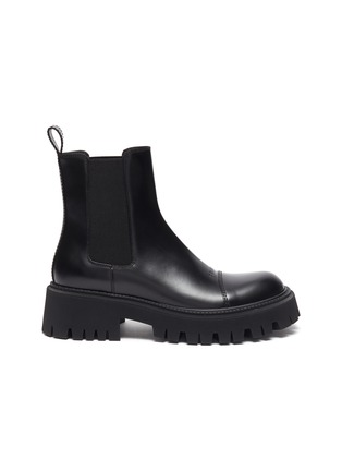 Main View - Click To Enlarge - BALENCIAGA - Tractor' Chunky Outsole Leather Chelsea Boots