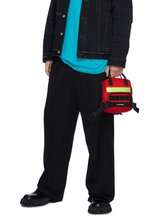 Front View - Click To Enlarge - BALENCIAGA - Extra Small 'Fireman' Recycled Nylon Backpack