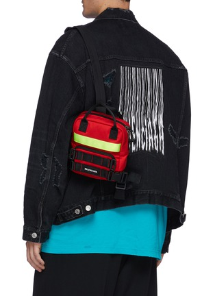Figure View - Click To Enlarge - BALENCIAGA - Extra Small 'Fireman' Recycled Nylon Backpack