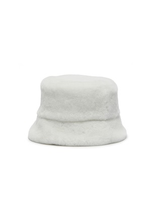 Figure View - Click To Enlarge - PRADA - Logo Plaque Sheep Wool Bucket Hat