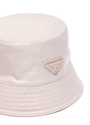 Detail View - Click To Enlarge - PRADA - Triangular Logo Plaque Re-Nylon Bucket Hat