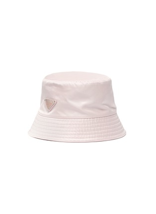 Main View - Click To Enlarge - PRADA - Triangular Logo Plaque Re-Nylon Bucket Hat