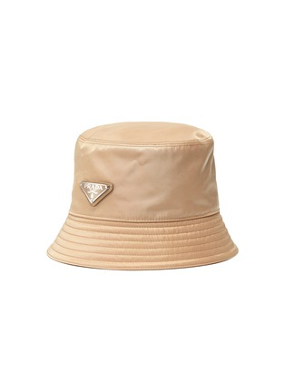 Main View - Click To Enlarge - PRADA - Re-Nylon Logo Appliqued Bucket Hat