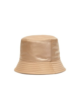 Figure View - Click To Enlarge - PRADA - Re-Nylon Logo Appliqued Bucket Hat
