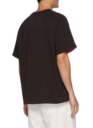 Back View - Click To Enlarge - BOTTEGA VENETA - 'Sunrise' Light Cotton Crewneck T-shirt