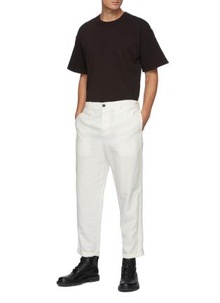 Figure View - Click To Enlarge - BOTTEGA VENETA - 'Sunrise' Light Cotton Crewneck T-shirt