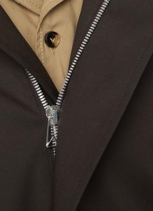 - BOTTEGA VENETA - Concealed zip stretch cotton shirt jacket