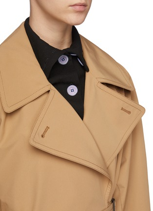 Detail View - Click To Enlarge - ACNE STUDIOS - Opa' Belted Coat With Detachable Collar