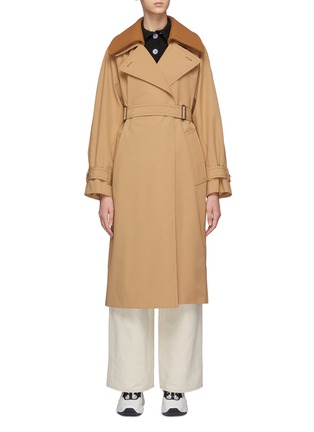 Main View - Click To Enlarge - ACNE STUDIOS - Opa' Belted Coat With Detachable Collar