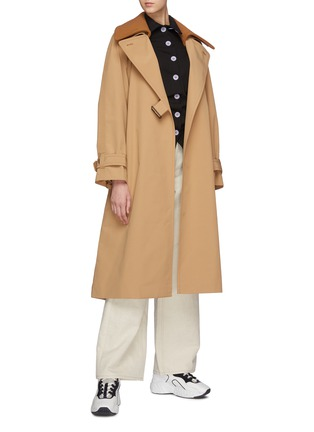 Figure View - Click To Enlarge - ACNE STUDIOS - Opa' Belted Coat With Detachable Collar