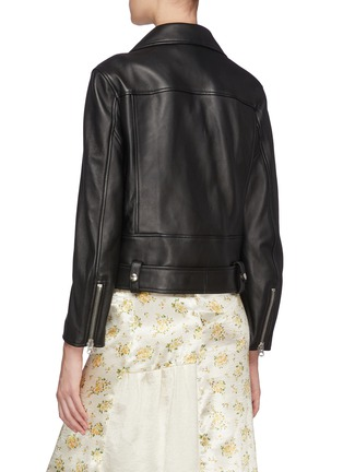 Back View - Click To Enlarge - ACNE STUDIOS - Merlyn' Leather Biker Jacket
