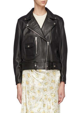 Main View - Click To Enlarge - ACNE STUDIOS - Merlyn' Leather Biker Jacket