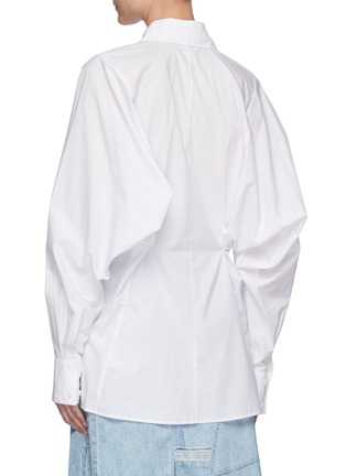Back View - Click To Enlarge - ACNE STUDIOS - Cinched back poplin shirt