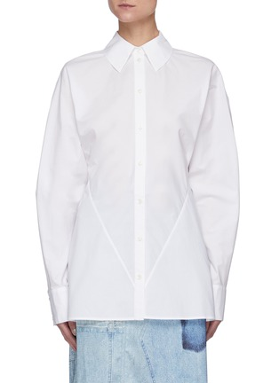 Main View - Click To Enlarge - ACNE STUDIOS - Cinched back poplin shirt