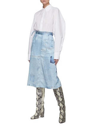 Figure View - Click To Enlarge - ACNE STUDIOS - Cinched back poplin shirt