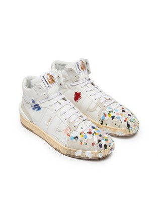 Detail View - Click To Enlarge - LANVIN - x Gallery Department Hand Paint High Top Leather Sneakers