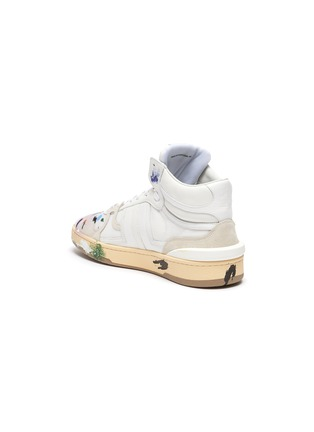 - LANVIN - x Gallery Department Hand Paint High Top Leather Sneakers