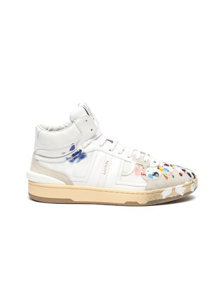 Main View - Click To Enlarge - LANVIN - x Gallery Department Hand Paint High Top Leather Sneakers