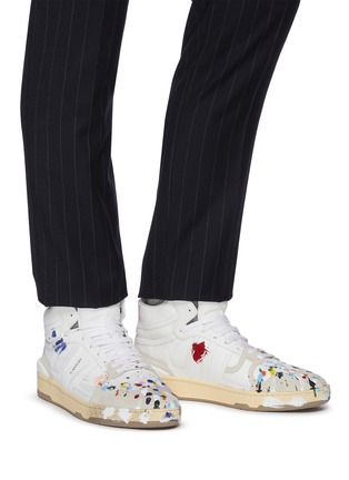 Figure View - Click To Enlarge - LANVIN - x Gallery Department Hand Paint High Top Leather Sneakers