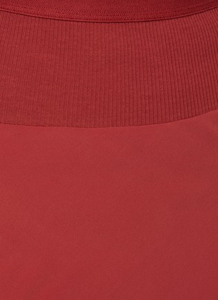 - RICK OWENS - Asymmetric Ruffled Hem Cocoon Crepe Midi Skirt