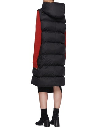 Back View - Click To Enlarge - RICK OWENS - Hooded Long Puffer Vest