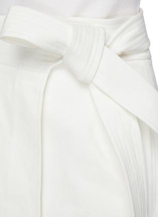 - GABRIELA HEARST -  ''Duane' stretch denim wrap belt midi skirt