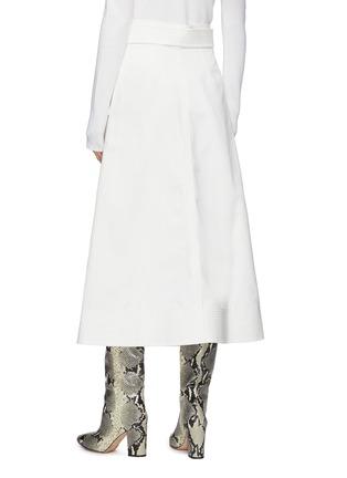 Back View - Click To Enlarge - GABRIELA HEARST -  ''Duane' stretch denim wrap belt midi skirt