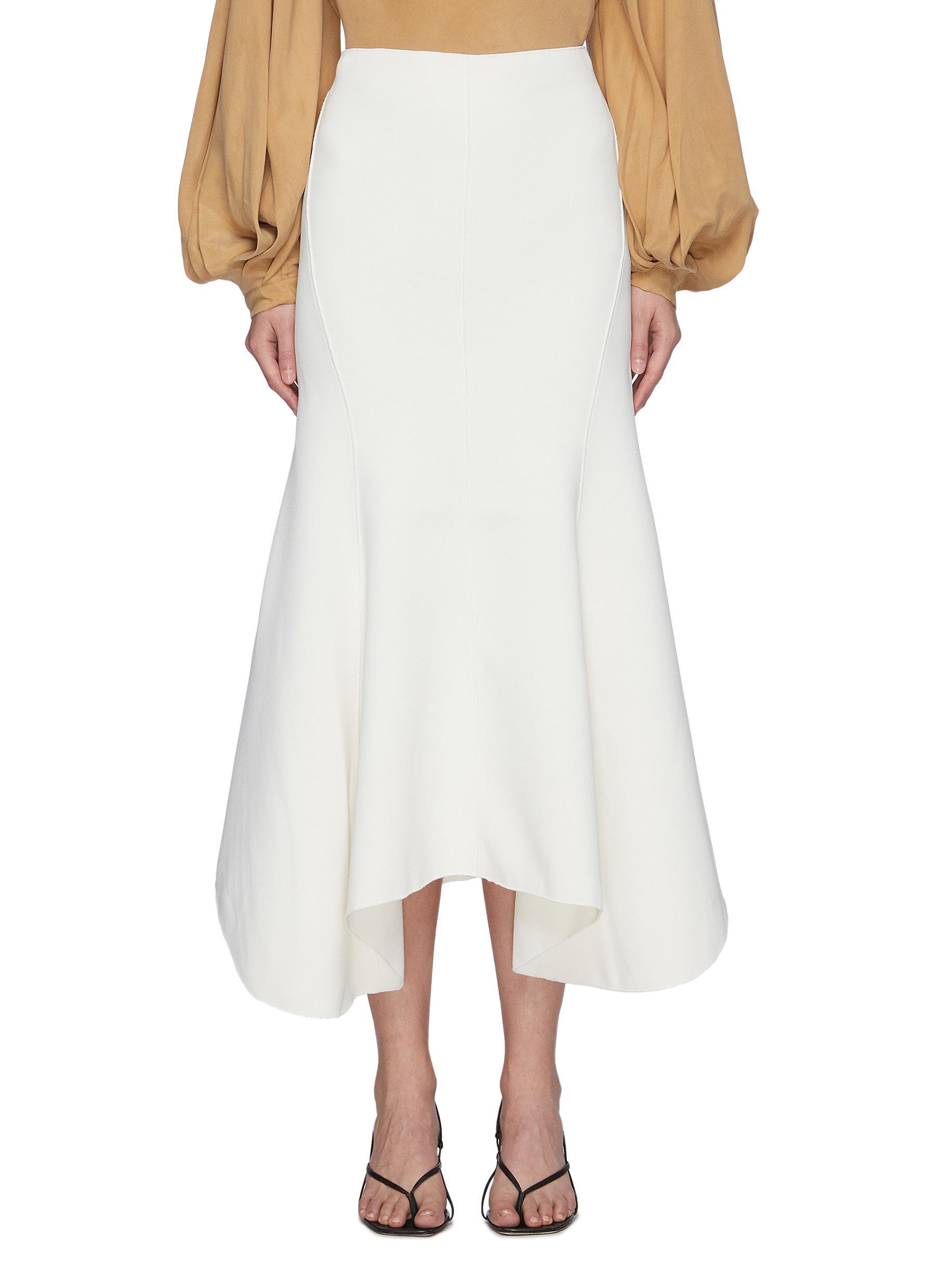 'Hurley' Flare Drape Hem Midi Skirt