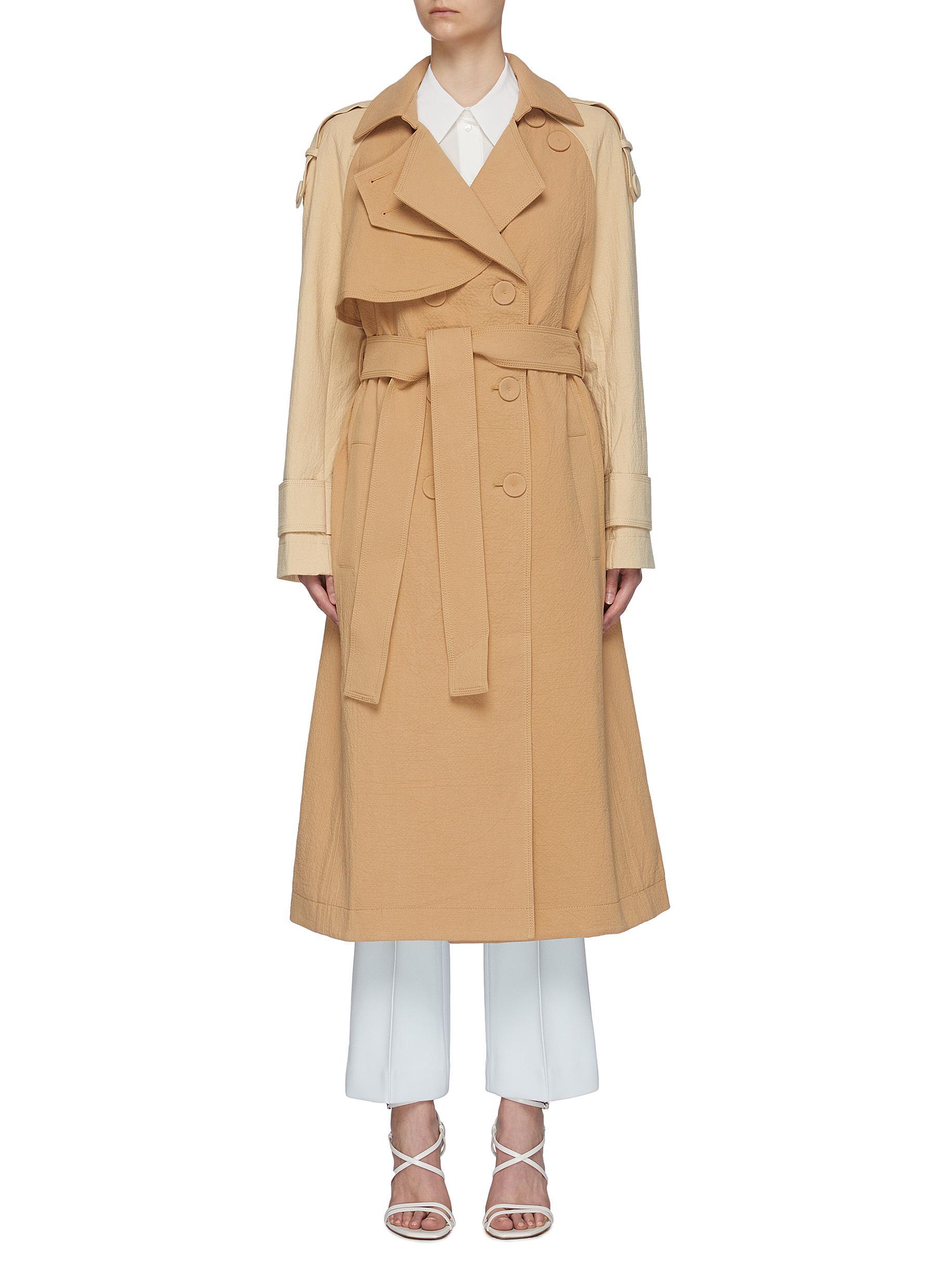 'Newton' Colourblock Cotton Trench Coat