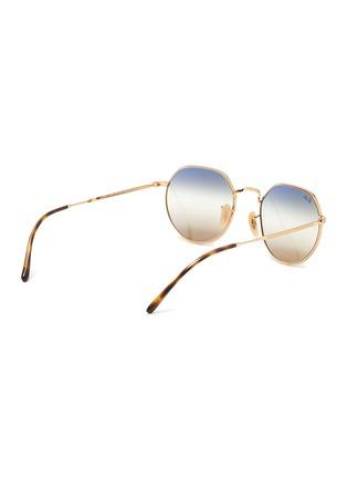 Figure View - Click To Enlarge - RAY-BAN - Bi-tonal Gradient Lens Metal Round Frame Sunglasses