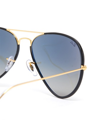 Detail View - Click To Enlarge - RAY-BAN - Metal Accent Acetate Aviator Sunglasses
